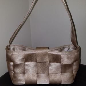 Harvey's Seatbelt Purse Taupe Satchel Shoulder Bag